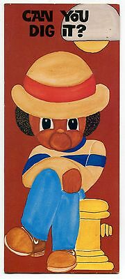 """1970s Black Americana Greeting Card: """"Can You Dig It?"""""""