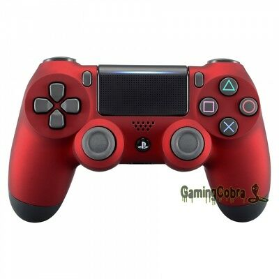 For Playstation 4 PS4 Pro Slim Wireless Controller Shell Soft Touch Red CUH-ZCT2