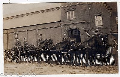 Suffolk, Ipswich?, Military Barracks, Soldiers And Horses, Rp