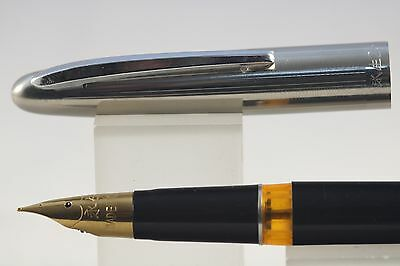 Wing Sung No. 233 Extra Fine Fountain Pen, Black with Chrome Trim