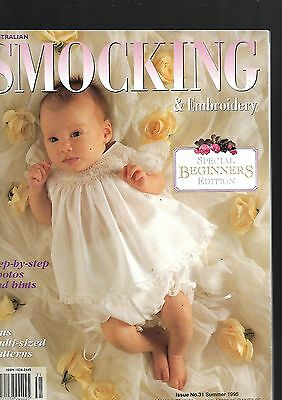 Australian Smocking and Embroidery PB A4 Back Issues Number 31 1995