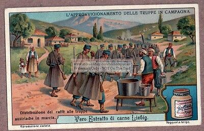Austrian Army Troops Getting Coffee Field Ration 1915 Trade Ad  Card