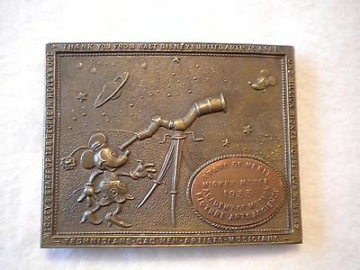 Disney(Tiffany NY) Award of Merit- Mickey & Minnie mouse 1933 Brass Buckle  t-2