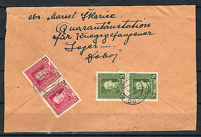 AUSTRIA OLD BOSNIA 1918. Karlo issue REGISTERD LETTER from DOBOJ