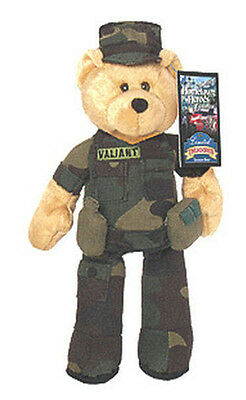 "Limited Treasures 9"" Army Plush Collectible Stuffed Bear -'Valiant'"