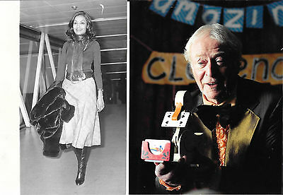 Michael Caine - Shakira Caine - 2 Press photos, one dated 1975