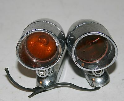 Pair Of Amber Lens Turn Signals From '99 Harley-Davidson Custom 1200 Motorcycle