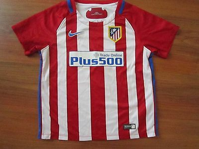 Boys NIKE ATLETICO MADRID 2016-17 FOOTBALL HOME Shirt Kit (age4-5) *GREAT COND*