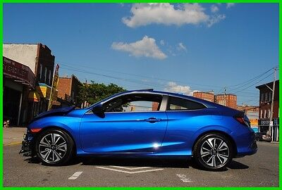 2016 Honda Civic EX-T 2016 EX-T AT Turbo Coupe Repairable Rebuildable Salvage Wrecked EZ Fix Save