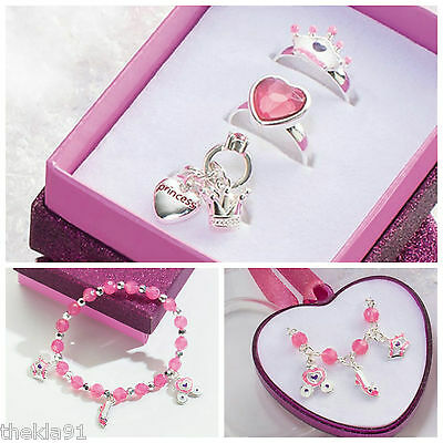 Children's Jewellery Princess Set of 3 Rings, Bracelet or Necklace Ideal Gift