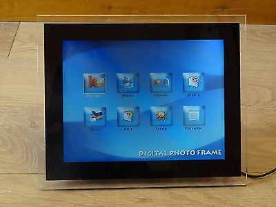 Digital Photo Frame Black 12-inch Screen SCRATCHED Faulty 12""