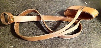 Vintage Hand Stitched Leather Rifle Butt Slip Strap Circa WW1