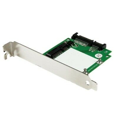 StarTech SAT32MSATPEX SATA to mSATA SSD Adapter with Full and Low Profile Bracke