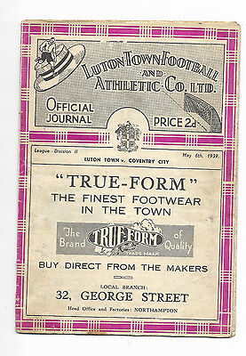 1938/39 Division 2 - LUTON TOWN v. COVENTRY CITY