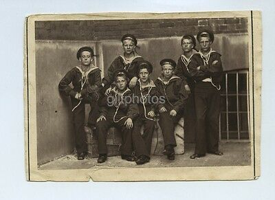 Small Photo Of Boys From The Marine Society c1880s Woodburytype / Carbon Print