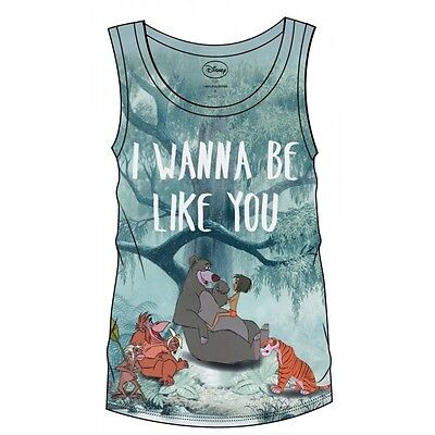 The Jungle Book Sublimation Girlie Tank Top I Wanna Be Like You Taglia XL