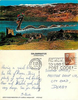 s08236 Monster, Loch Ness, Inverness-shire, Scotland postcard posted 1979 stamp