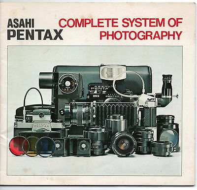 Asahi Pentax Complete System Of Photography Catalogue - Takumar Lenses