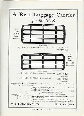 Luggage Rack 1933 1934 1935 Ford V-8  After-Market Accessory