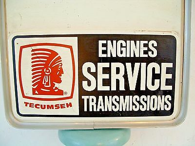 Vtg Tecumseh Engine Transmission Service Advertising Sign Display Dualite Inc US