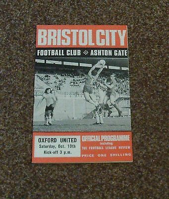 FOOTBALL PROGRAMME BRISTOL CITY v OXFORD (Division Two- 10th October 1970)