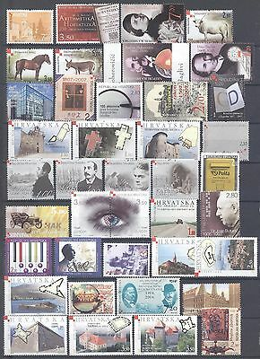 Croatia 1991-2008 One Good Lot Mnh Stamps All Very Fine
