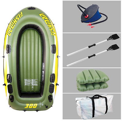 2.5M Inflatable 3-Person Dinghy Boat Set + Pump + Oars - RRP £300