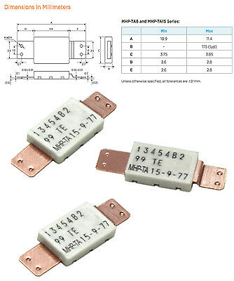 Littelfuse, Resettable Fuses - PPTC 77 ACT TEMP 15A HOLD (3 pieces)  TE, Raychem