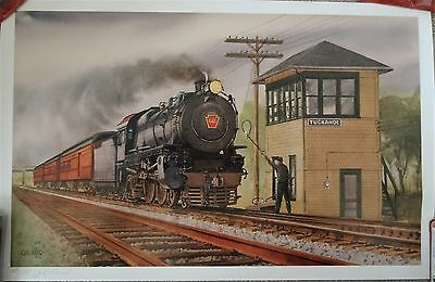 Bulldog ~ 1991 Pennsylvania Rail Road Print By Gill Reed Signed and Numbered