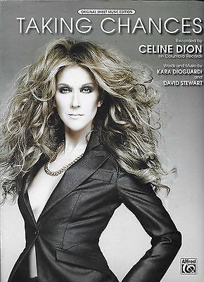 CELINE DION  Taking Chances  sheet music songsheet