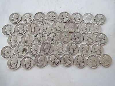 Lot of  Quarters (all 90% silver) various conditions some very worn