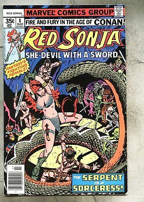 Red Sonja #8-1978 fn-  Frank Thorne Roy Thomas
