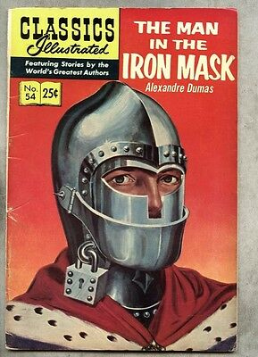 """Classics Illustrated #54-1969 fn- 9th """"B"""" edition Dumas Man In The Iron Mask"""
