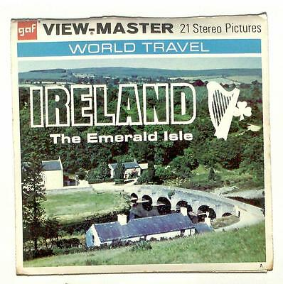 vintage GAF View Master IRELAND THE EMERALD ISLE reel set WORLD TRAVEL dublin !!