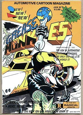 Grease Monkie #1-1993 fn+ Indie Magazine Size Hot Rod anthropomorphic