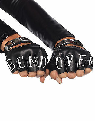 Black Bend Over Gloves Adult Costume Accessory - One Size