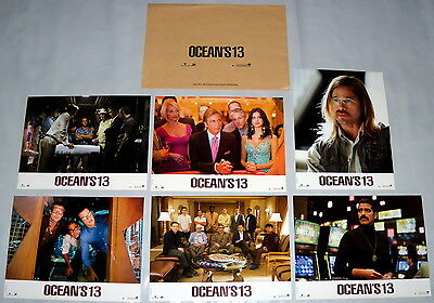 OCEAN'S 13 George Clooney Brad Pitt Matt Damon Andy Garcia 6 FRENCH LOBBY CARDs