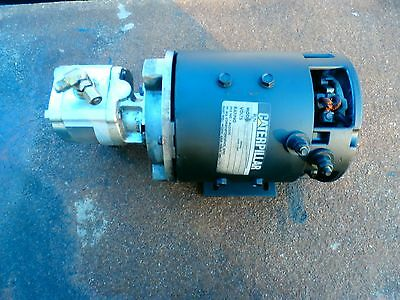 Caterpillar Electric Forklift Drive Motor Hydraulic Motor & Pump Assem Complete