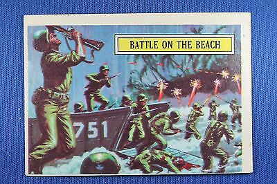 1965 Topps Battle Cards - #47 Battle On The Beach - VG/Excellent Condition