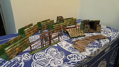 Vintage 1940s Lead Soldiers Military Wooden Diorama
