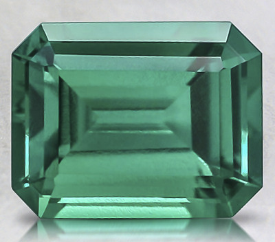 1.35ct Loose Emerald Cut Lab Created Emerald Gemstone 8 x 6mm