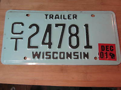 1995 Wisconsin Trailer License Plate Expired Ct 24781