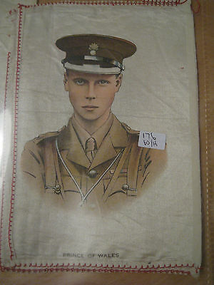 Great War WW1 Large Silk Cigarette Card - Prince of Wales (anon)
