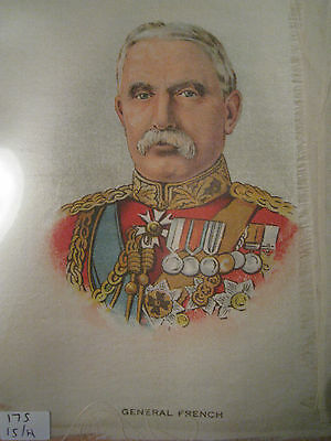 Great War WW1 Large Silk Cigarette Card - General French (anon)