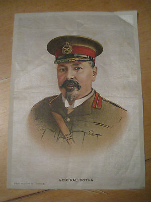 Great War WW1 Large Silk Cigarette Card - General Botha (anon, Topical)