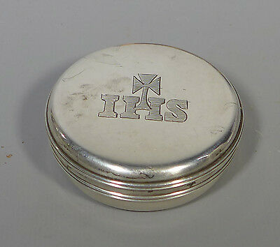 Fine Antique Solid Hallmarked Irish Sterling Silver Pyx Wafer Box Dublin 1843