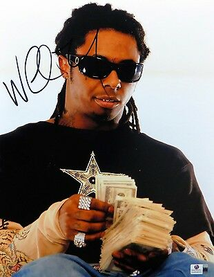Lil Wayne Signed Autographed 11X14 Photo Sunglasses Counting Money GV809553
