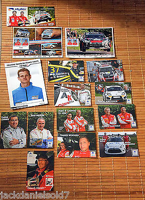 15x WRC AK Autogrammkarten • RAR NEW • Frankreich World Rally • FFSA • Konvolut
