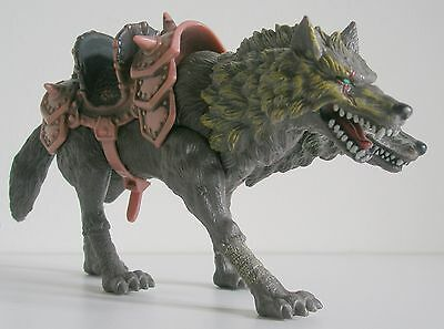 Chap Mei TRUE LEGENDS two headed Wolf from Orc Raiding Party - Brown Saddle