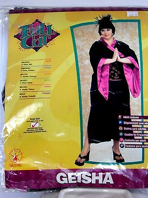 Black Pink Geisha Girl Plus Size Halloween Costume Rubies Trick Or Treat Theater